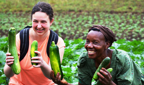 IDPM student and agricultural worker in Uganda