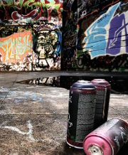 Graffiti and spray cans